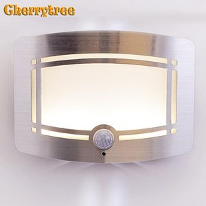 Led Wall Light Human Body Induction Vanity Lamp Wandlamp Battery Bathroom Bedroom Loft Decor Stair Night Fixtures Lamps