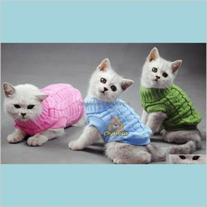 Cat Costumes Supplies Pet Home & Garden Dog Sweater Sphinx Coat Spagetti Warm Autumn Winter Jumper Clothes For Small Pets Drop Deliver