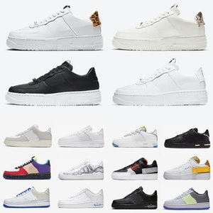 Nike Air Force 1 AF1 Stock X G-Dragon N354 Summit White Para-Noise 1 Red Mens Running Shoes 07 LV8 Day of Dead men women sports Athletic designer sneakers