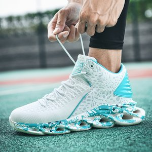 High Top Men Sneakers Gym Training Shoes Comfortable Basketball Shoes Breathable Outdoor Sport Shoes Mens Basketball