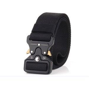 Tactical Belt, Military Style Webbing Riggers Web Belt Heavy-Duty Quick-Release Metal Buckle 1.5'' width free