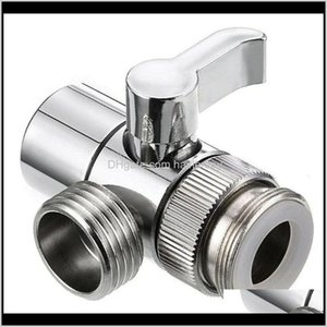 Angle Faucets, Showers As Home & Garden Drop Delivery 2021 Vaes Water Tap Connector For Toilet Bidet Shower Switch Faucet Adapter Kitchen Sin