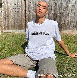 Spring Summer Hip Hop Fear of God Men's T-shirt 3d Silicon Tee Skateboard shirt Women Short Sleeve