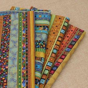 50 * 150 cm Vintage Afrika Stil Etnik Desen Pamuk Keten Kumaş DIY El Yapımı Konfeksiyon Çanta Ayakkabı Tekstil Dikiş Patchwork