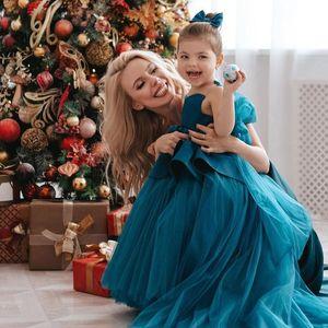 2021 Sheer Neck Flower Girl Dresses Ball Gown Beaded Satin Tulle Bow Lilttle Kids Birthday Pageant Weddding Gowns