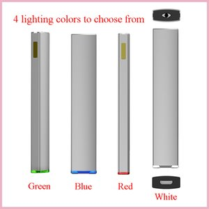Customized Disposable E-cigarettes empty Glass Cartridge vaporizer 0.5ml flat Atomizer Custom Logo Packaging lighting bottom rechargerable 350mAh battery