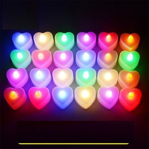 Led Candle Heart Electronic Candle Light Up Birthday Party Valentine Day Halloween Led Toys Gifts Lighting Wedding Bar Decoration