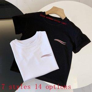 Kinder T-shirts Sommer Tees Tops Familie Matching Outfits Jungen Mädchen Kleidung Brief Kleidung Atmungsaktive T-Shirts Womens 14 Arten Größe 90-150