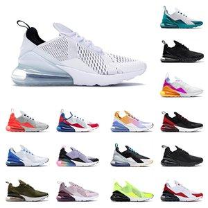 Nike Air max 270 الثلاثي الأسود الأبيض الرجال النسائية 27c الاحذية 270s ية المدربين عداء فولت صور بولي الولايات المتحدة الأمريكية المتوسطة الزيتون بالكاد روز الروح