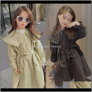Overcoat For Girl Windbreaker Coat Baby Kids Trench Girls Lolita Jacket Kid Outwear Xhj0I Flf6N