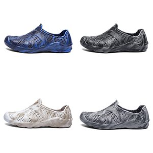 men water shoes summer beach shoe white grey fashion home outdoor soft work sneaker mens breathable sports trainer