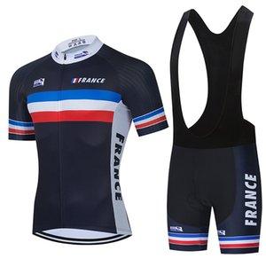 2021 Team France Cycling Jersey Bike Shorts 20D Bib Set Ropa Ciclismo MenS MTB Summer Pro Bicycling Maillot Bottom Clothing