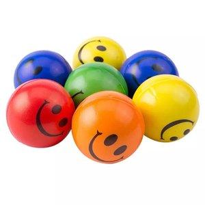 1000 pcs 6.3cm Sorriso rosto espuma bola esprema stress bola relevo brinquedo mão pulso exercício brinquedo brinquedo bolas para crianças