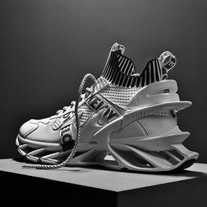 Hombres tendencias zapatillas de deporte zapatillas zapatillas transpirable malla diseñador jogging caminando atletismo entrenador zapatos deportivos tamaño 44