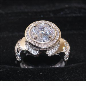 925 Sterling Silver gemstone CZ Diamond Simulated Ring for Men Vintage Cocktail Jewelry Engagement Wedding Band Ring Finger