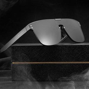 Óculos de sol de lente de lente conjunta de alumínio de alumínio masculino