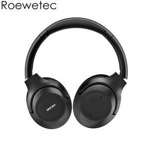 Fones de ouvido sem fio Bluetooth ANC BT30NC Cancelando auscultadores sobre a orelha com microfone Profundo Super Soft Soft Soft-Pads Black Rechargable Bateria