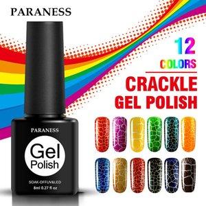 Crackle Gel Nail Polish Hybrid Lacquer Base Primer Of Set For Manicure UV Led Semi Permanent Top Coat