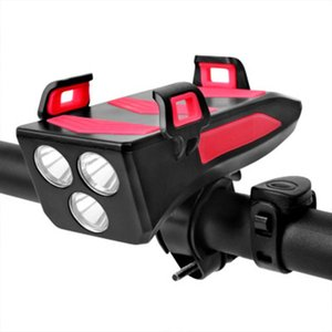 Bike Light Front Bicycle Horn Set, 2000 4000 MAh LED Light, USB Rechargeable Headlights, Waterproof Flashlights Torches