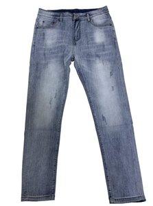 Moda Jeans Global Brand Moderno Moderno El Paño Vaquero Movimiento Al Aire Libre Pantalones Elásticos Tight Slim De Alta Calidad