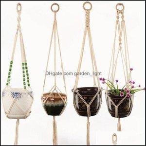 Decorations Patio, Lawn Garden Home & Gardenpot Hangers Suspension Rope Wall Planter Hanging Basket Baskets Lifting Plant Flowerpot Sea Drop