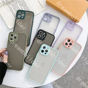 L luxury designer fashion Phone Cases for iPhone 12 pro max 11 11pro 11promax X XS XSMAX XR Clear Hard Case Shockproof Transparent shell Skin feel Non-slip cover