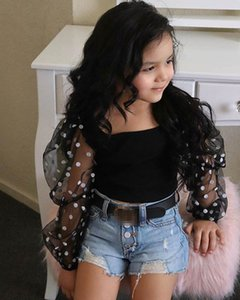 Kids Outfits Girls Sets Baby Suits Sweet Summer Lace T Shirts Tops Hole Jeans Shorts 2Pcs Fashion Children Clothes 2-6T B4629