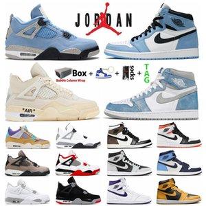 University Air الأزرق الأردن 1 1s Hype Royal UNC رجل كرة السلة أحذية الشراع الأسود القط bed الأردن 4S الأسمنت الأبيض ما جأافة الرياضة الرياضية النساء أحذية رياضية
