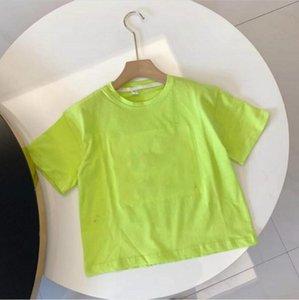 Summer children's T-shirt cotton round neck candy color short sleeve top