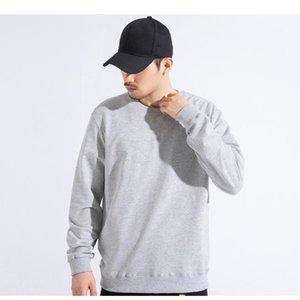 Sale Plus Size 4XL Unisex Fashion Loose Plain Cotton Crewneck Long Sleeve Sweatshirt Men's Hoodies & Sweatshirts
