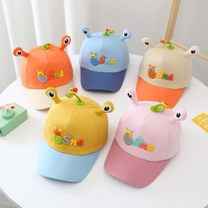 Hats J486 spring Korean alphabet eye color matching baseball cap children's leisure cap Duoduo Kingdom