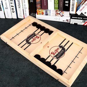 Fast Hockey Sling Puck Game Paced Winner Fun Toys Board-Game Party For Adult Child Family Games Small Animal Supplies