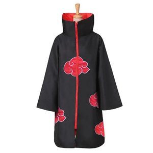 Naruto Woven Clothing Anime COSPLAY Costume Red Cloud Front Four Generations Six Genes Halloween Cloak