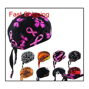 Cycling Caps Masks Cotton Print Pirate Style Turban Hip Hop Dancling Cartoon Skull Pirates Hat Outdoor Sports Anti Uv Protection Bike Gvh15