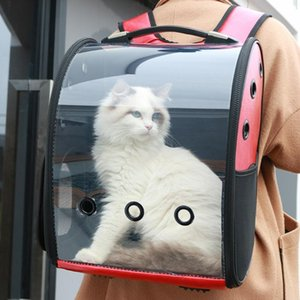Pet Space Bag PVT Cat Out Shoulder Portable Transparent Transport Travel Breathable Dog Backpack Carriers,Crates & Houses