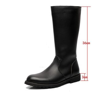 boot Men Boots High Plus Size 45 Mens Flat Pointed Finger Equitation Shoe Man Luxury Shoes Y515