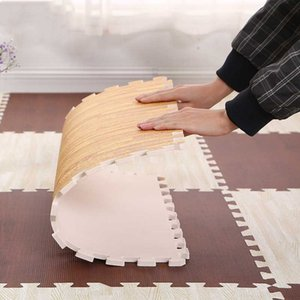 Soft Floor Baby EVA Foam Play Gym Puzzle Mats Wooden Interlocking Exercise Tiles Crawling Carpet And Rug for Kids Game Activity H0831 H0906