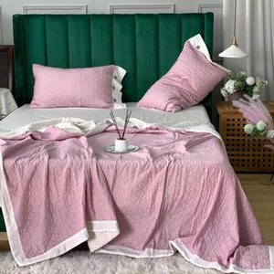 Bedding Sets 100 % Superfine Cotton Air Gauze, Soft Feel, Summer Pillow Cover Three - Piece Set, Cover,Bedding Set Blanket