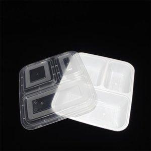 Mais barato !!! US Au microondas eco-friendly recipientes de alimentos 3 compartimento descartável almoço bento caixa preta refeição prep 1000ml 653 s2