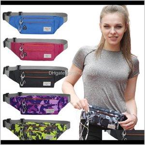 Bags & Outdoors Drop Delivery 2021 Outdoor Sports Marathon Unisex Runner Fanny Pack Sport Belly Bum Fitness Running Jogging Workout Waist Bel