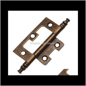 Accessories Pack Of 10 Antique Brass Furniture Cabinet Door Hinge With Finals Jzh Ec81S