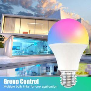 Bulbs Home 85-265V RGB+White Dimmable Timer Function Bulb 15W WiFi Smart Light B22 E27 LED RGB Lamp Work With Alexa Google