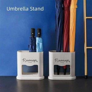 Nordic Style Oval Umbrella Stand Rack Umbrella Holder Plastic Organizer For Indoor Home Hallway Entryway Office Decor Storage 210705