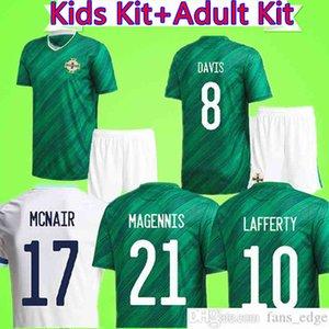성인 + 키즈 북부 아일랜드 2020 2021 소개 탱크 Magennis Lafferty Camiseta 소년 축구 셔츠 탑 유니폼을 설정 McNair Jones Evans Suit Maillot