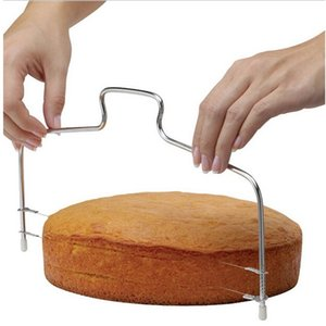 1 قطعة جديد خط مزدوج تعديل أدوات الخبز ديي العفن الفولاذ المقاوم للصدأ أدوات كعكة الخبز القطاعة القاطع سلاسل سكين واحد 258 S2