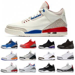 jumpman 3s мужская баскетбольная обувь 3 jth суд фиолетовый mocha черный кот белый цемент мужчины женщин тренер спортивные кроссовки 40-47