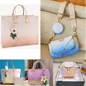 Newest 21 summer never Womens bags By The onthego women Pool series Speedy 25 Book totes Shoulder Bag full Cluctch Handbags Messenger