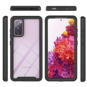 Non-slip Hard PC TPU 360 Full Cases For Samsung Note 20 S21 S20 fe A51 A71 A21S A32 A52 5G A72 A02 A12 A42 2in1 Hybrid Layer Shockproof Frame Bumper Transparent Phone Cover