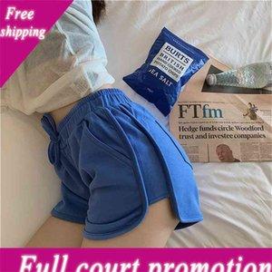 Pantallas cortas de yoga Mujeres 2020 Verano Nuevo Nuevo Flojo y versátil Alto Cintura Ocio Pierna ancha A-Line Pantalones Calientes