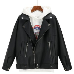 Leather Women's Short Spring And Autumn PU Jacket Korean Fashion Loose Student Motorcycle & Faux